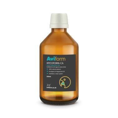 Aviform Mycoform CA liquid respitory aid bottle