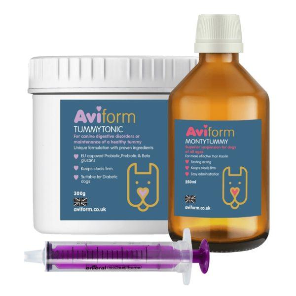 Aviform Dog Digestion Pack with TummyTonic and MontyTummy