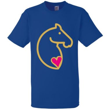 Navy Aviform Animal Tshirt Equine Logo